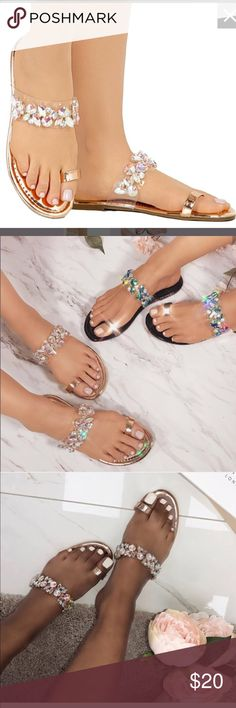 40f3838df Toe Ring Rhinestone Bling Slides Flip Flops Sandal Women Toe Ring Rhinestone  Bling Slides Flip Flops Flast Sandal Style Name  Heel  Inches Style  Toe  Ring ...