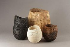 The art of organic design - Valerie LeGras Atelier Ceramic Pottery, Ceramic Art, Flexible Wood, Coil Pots, Grand Palais, Wood Bowls, Abstract Sculpture, Clay Creations, Wood Turning