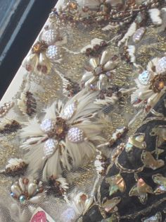 Lesage embroidery at Galignani window