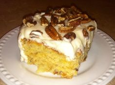 Easiest Pineapple Cake with cream cheese frosting. Easiest Pineapple Cake Recipe, Easy Pineapple Cake, Pineapple Recipes, Just Desserts, Delicious Desserts, Yummy Food, Cake Recipes, Dessert Recipes, Pastries