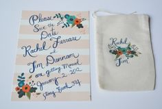 Teal and Tangerine Wedding Bliss by Loft Life Press