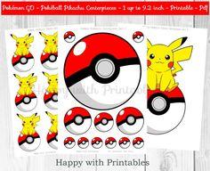Pokemon GO Pikachu Centerpieces - Pokeballs Centerpieces - Pokemon GO - Pikachu…                                                                                                                                                                                 Más