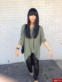 Bangs are my next hair venture. Prefect for spring time (: