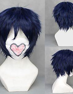 cosplay peruk inspirerad av blå exorcist Rin Okumura