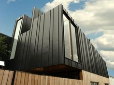 Metal Cladding to add to the architectural beauty of the building Exterior Wall Cladding, Steel Cladding, Brick Cladding, Aluminium Cladding, House Cladding, Detail Architecture, Modern Architecture, External Cladding, Roof Extension