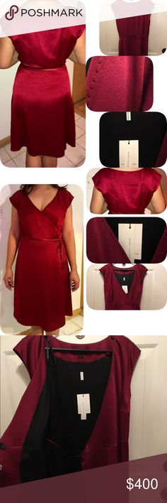 🆕MARC JACOBS  Burgundy Dress 💕Designer Brand MARC JACOBS Burgundy dress, I bought it in Dubai- Mall of Emirates. Wrap around with black silk lining. Imported Fabrics Professional Dry Clean only.💕Offers are Welcome💕Perfect for coming Holidays & Valentine's❤️Day!💕💯Authentic.🚭Pet 🆓 Marc Jacobs Dresses Midi