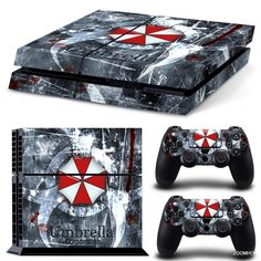 PS4 Playstation 4 Console Skin Decal Sticker Resident Evil + 2 Controller Skins #ZoomHit