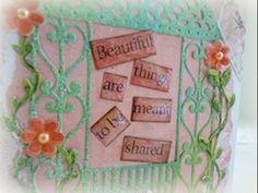 Spellbinders Floral Gazebo Card