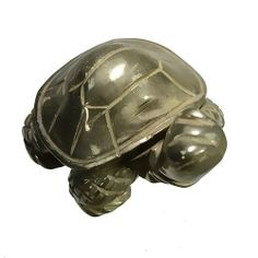 "Turtle Pyrite Carved Figurine Carving 2"" @ KnowFengShui.com"