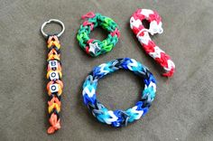 Rainbow Loom - Three Pin Chain pattern