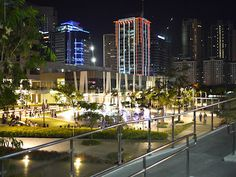 """Bonifacio Global City, colloquially known as """"The Fort"""". Places To See, Places Ive Been, Night Aesthetic, Tourist Spots, Dog Park, City Lights, Manila, Philippines, Beautiful Places"""