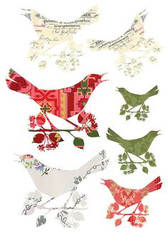 FREE bird printables... so cute =)