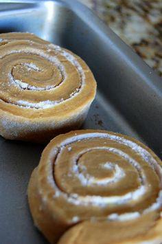 gingerbread brioche rolls
