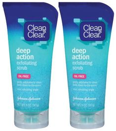 Clean  Clear Deep Action Exfoliating Scrub  Oil Free  5 oz  2 pk ** Check this awesome product by going to the link at the image.