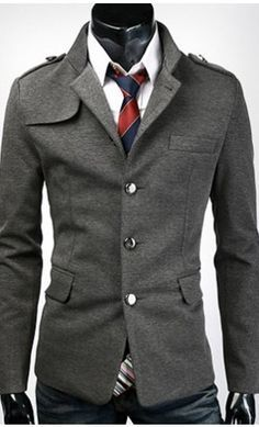 Mens modern single breasted jacket with unique collar and shoulder available in US S-L. #modern #menswear Something that you should want to check