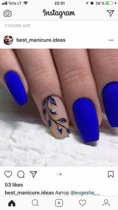 Acrylic Nail Art 609815605777108675 - 40 Trendy 2019 Dark Blue Nail Art Designs Check more at nail. Square Acrylic Nails, Cute Acrylic Nails, Matte Nails, Acrylic Nail Designs, My Nails, Nail Art Designs, Blog Designs, Square Nails, Hair And Nails