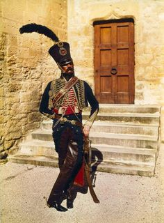 Officer of the 5th French Hussars c1805