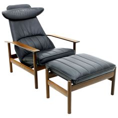 Rare Lounge Chair in Rosewood & Leather by Sven Ivar Dysthe for Dokka, Norway | From a unique collection of antique and modern lounge chairs at http://www.1stdibs.com/furniture/seating/lounge-chairs/