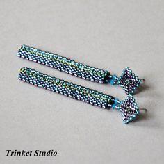 Trifid Nebula -Gun Metal długie / Trinket Studio / Biżuteria / Kolczyki