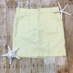 LOFT Chino skirt Light wear no stains or tears says 2p but the length looks normal to me for a summer skirt LOFT Skirts Mini