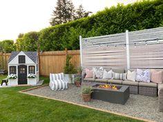 Backyard Seating, Backyard Patio Designs, Garden Seating, Diy Patio, Patio Ideas, Pea Gravel Patio, Gravel Landscaping, Backyard Makeover, Outdoor Living