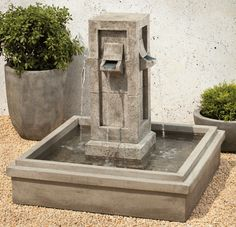 Pallisades Fountain - Material : Cast Stone - Finish : Greystone