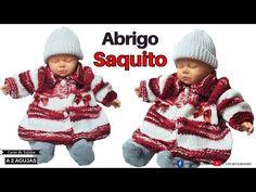 ❤️ 🤍 Abrigo Saquito de Navidad a Dos Agujas para 6 Meses y 1 Año de Edad ✅ Tejidos para Bebé - YouTube