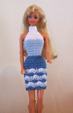 Crochet Toy Barbie Clothes Several Barbie clothes patterns, not in English. Moda Barbie, Barbie Et Ken, Free Barbie, Barbie Doll, Barbie Clothes Patterns, Crochet Barbie Clothes, Clothing Patterns, Dress Patterns, Shirt Patterns
