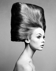 Jean Shrimpton by Richard Avedon, 1960s--we piled it up, but I don't recall seeing anything like this except in the fashion mags