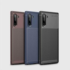 Galaxy Note 10, Galaxy Note 10 Pro Phone Cases Covers Tough Shockproof Carbon Fiber Pattern Silicone TPU | | Casefanatic