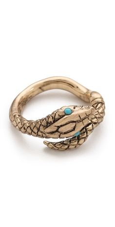 Lulu Frost Snake Ring. 2013 is the Year of The Snake!