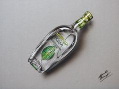 Marcello Barenghi: A bottle of Morosha vodka - drawing Watch me draw it http://youtu.be/RxAqhPgOX9w?list=UUcBnT6LsxANZjUWqpjR8Jpw (time lapse video of the full drawing process) #Morosha #vodka #bottle #drawing #marcellobarenghi