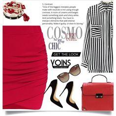 Yoins 4 by nejra-l on Polyvore featuring moda, Christian Louboutin, Linda Farrow, yoins, yoinscollection and loveyoins