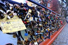 Love locks in Gdansk
