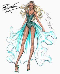 Hayden Williams Fashion Illustrations | Beyoncé Mrs. Carter Show World Tour 2014 by Hayden Williams