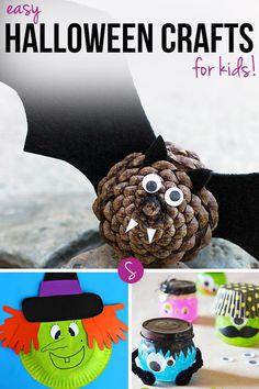 Easy Halloween Crafts for Kids to Make: From bats and spiders to witches and monsters we have some fabulously cute and spooky crafts to celebrate Halloween!