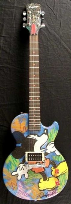 Mickey Mouse Epiphone electric guitar