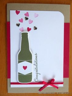 Bubble Over for an engagement congratulations card