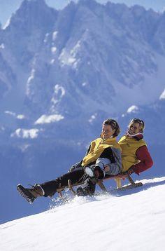 Schlitten fahren im Salzkammergut Winter Sports, Mount Everest, Skiing, Mountains, Nature, Travel, Winter Time, Pictures, Sled