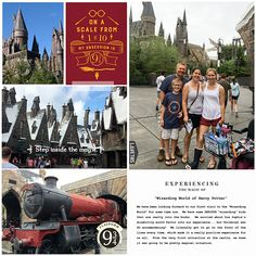 Harry Potter Wizarding World Hogwarts Express digital project life page using Project Mouse (Wizarding) by Britt-ish Designs and Sahlin Studio Digital Project Life, Italy Destinations, Life Page, Good Day Song, Digital Scrapbooking, Scrapbooking Ideas, Travel Scrapbook, Universal Studios, Journal Cards