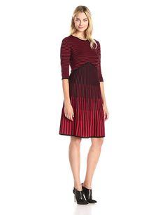 0a4390d4cfd36 Gabby Skye Women s Three-Quarter Sleeve Sweater Dress at Amazon Women s  Clothing store  Work