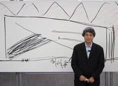 Tadao Ando - Sketch - Centro Roberto Gaza Sada en Monterrey.