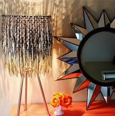 Lampshade made from zipties