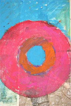 Splish Splash Splatter: Jasper Johns Target Paintings - love the layers of text showing through the paint from the newspapers