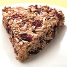 This recipe was inspired by chef Lars Kronmark's granola wedges from the Culinary Institute of America at Greystone. Substitute your favorite fruit, nuts and/or seeds for the sunflower seeds and/or dried cranberries in these granola bars. Ic Recipes, Snack Recipes, Waffle Recipes, Brunch Recipes, Drink Recipes, Smoothie Recipes, Crunchy Granola, Granola Bars, Oatmeal Bars