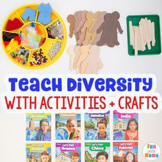 Check out these 10 Simple Cultural Diversity Activities for Elementary Students to teach children about children of the world. Educational Activities For Toddlers, Multicultural Activities, Kindergarten Activities, Diversity Activities, Multicultural Classroom, Eyfs Activities, Culture Activities, Diversity In The Classroom, Inclusion Classroom, Teaching Kids, Cultural Diversity, Students, Studio