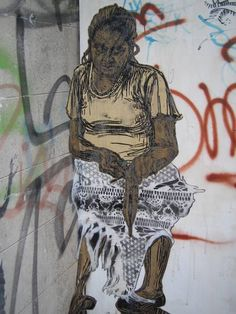 Street art by Swoon