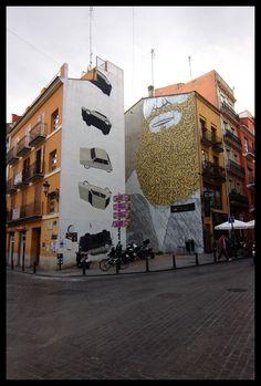 Escif & Blu, Plaza del Tossal, Valencia