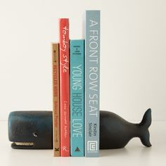 House of 3 - Whale Bookends