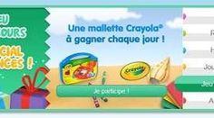 Le club Kinder vous propose de tenter votre chance afin de gagner une mallette Crayola par jour.